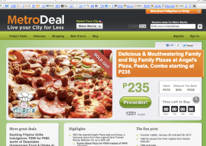 Metrodeal angel's pizza deal