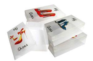 Transparent Stackable Shoe Boxes